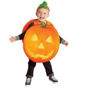Toddler Boys Girls JACK O LANTERN Pumpkin Costume